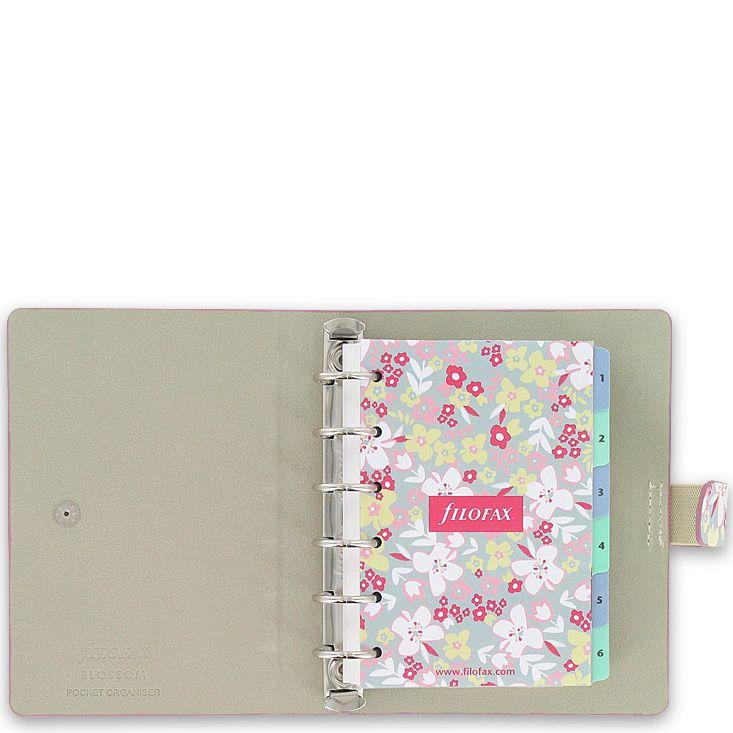 Маленький органайзер Filofax Pocket Blossom с цветочным принтом
