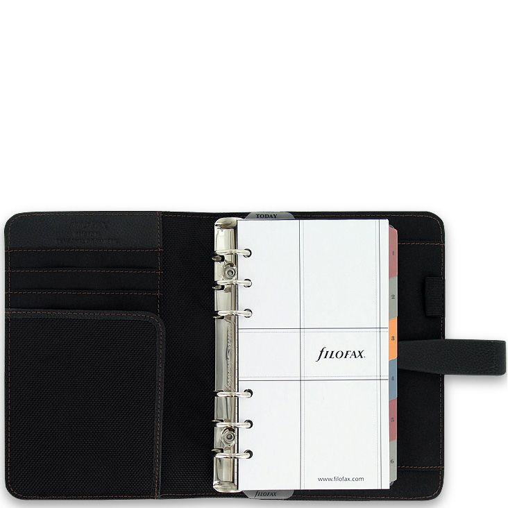 Органайзер Filofax Personal Fusion черный в сочетании микрофибры и кожа