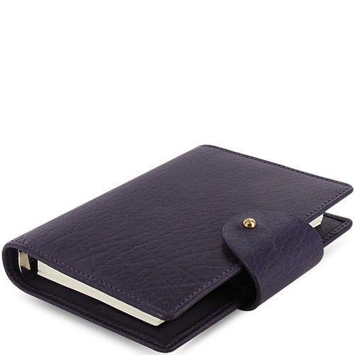 Карманный органайзер Filofax Pocket Charleston кожаный цвета баклажан