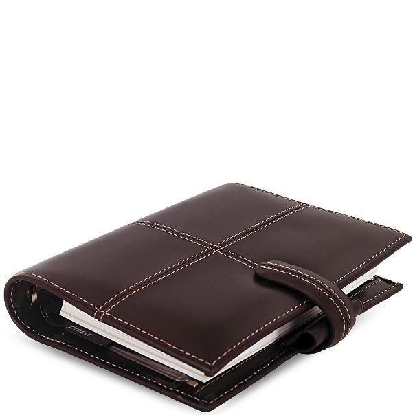 Карманный органайзер Filofax Pocket Classic кожаный шоколадно-коричневый