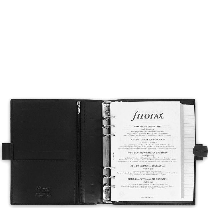 Профессиональный органайзер Filofax А5 Classic кожаный черный