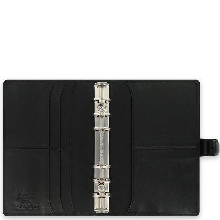 Органайзер Filofax Personal Nappa кожаный черный
