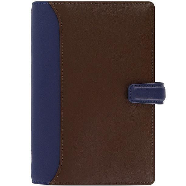 Органайзер Filofax Personal Nappa кожаный коричневый с темно-синими вставками