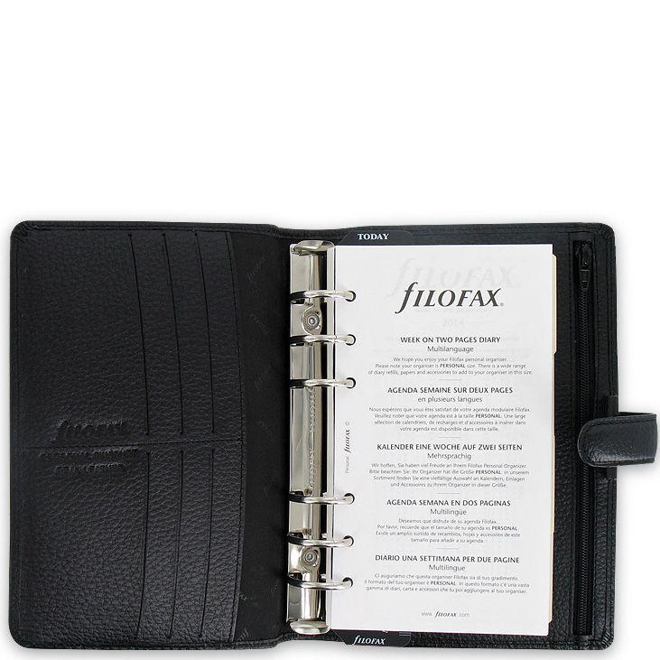 Органайзер Filofax Personal Finsbury кожаный черный