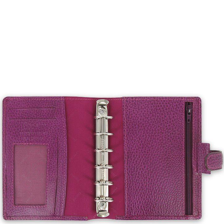 Компактный органайзер Filofax Pocket Finsbury кожаный голубой