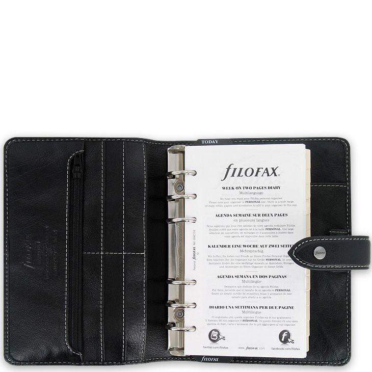 Универсальный органайзер Filofax Personal Malden кожаный черный