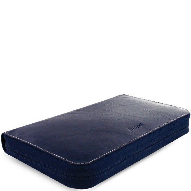 Многофункциональный органайзер Filofax Compact Malden Zip кожаный темно-фиолетовый на молнии