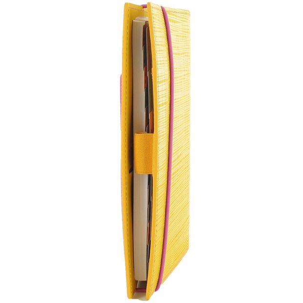 Органайзер Filofax Personal Apex желтый с фактурой Сафьяно и розовый резинкой-креплением