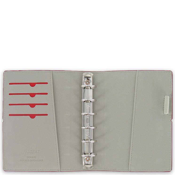 Компактный органайзер Filofax Pocket Domino бордовый на резинке