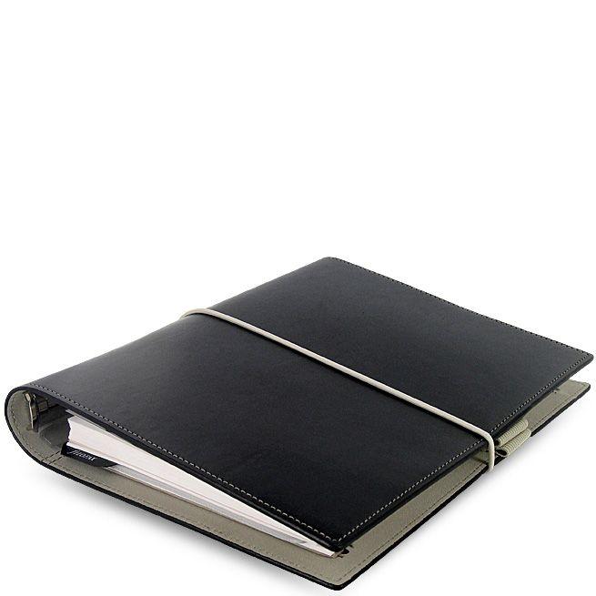 Функциональный органайзер Filofax А5 Domino черный на резинке
