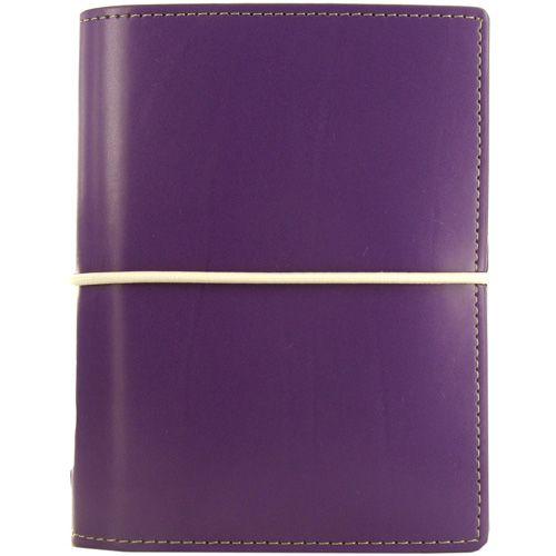 Карманный органайзер Filofax Pocket Domino фиолетовый на резинке
