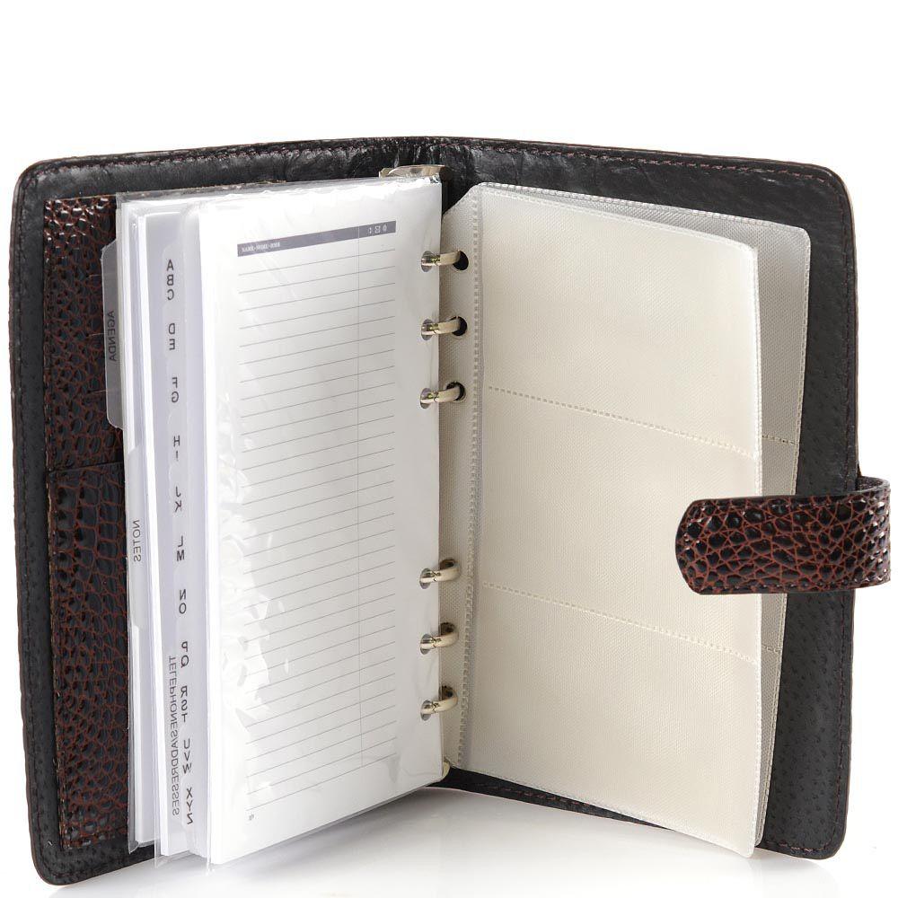 Записная книжка VIF с ежедневником и визитницей в кожаной лаковой обложке