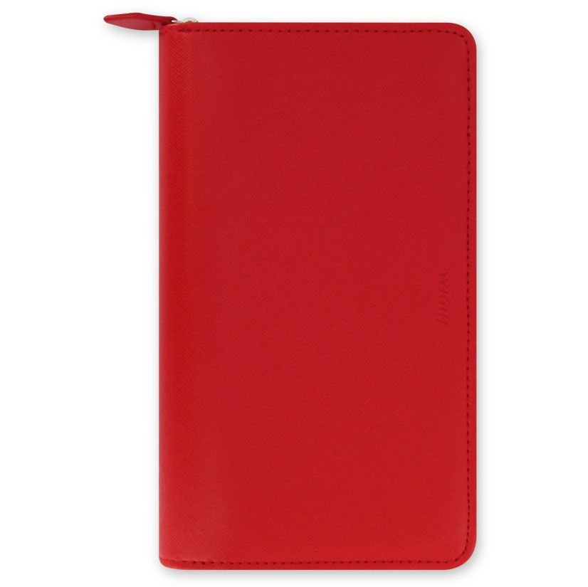 Органайзер Filofax Saffiano Compact красного цвета