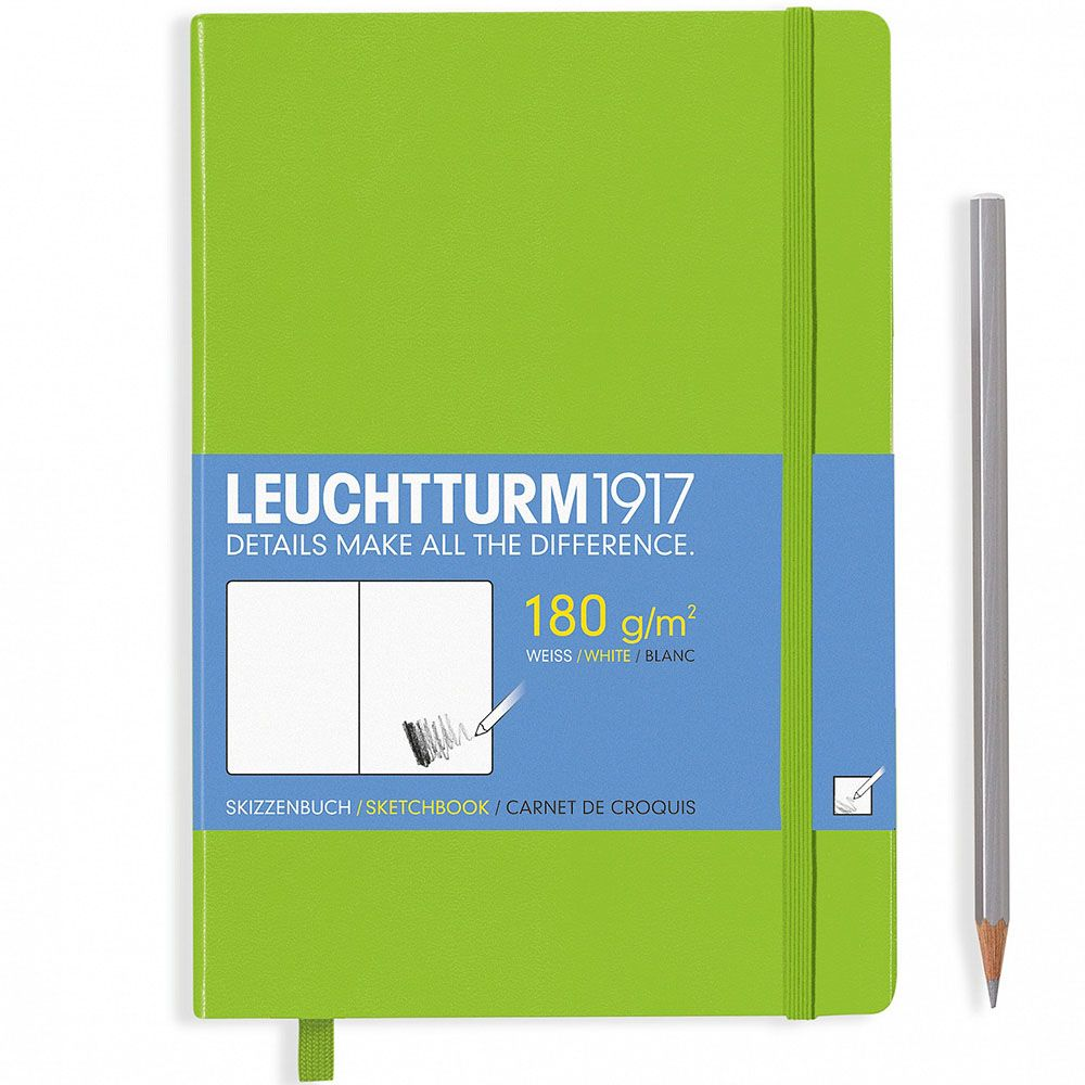 Средний зеленый скетч-бук Leuchtturm1917 формата А5