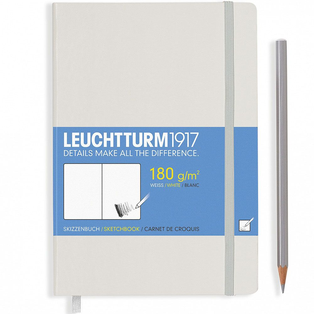 Белый блокнот без разметки Leuchtturm1917 для эскизов
