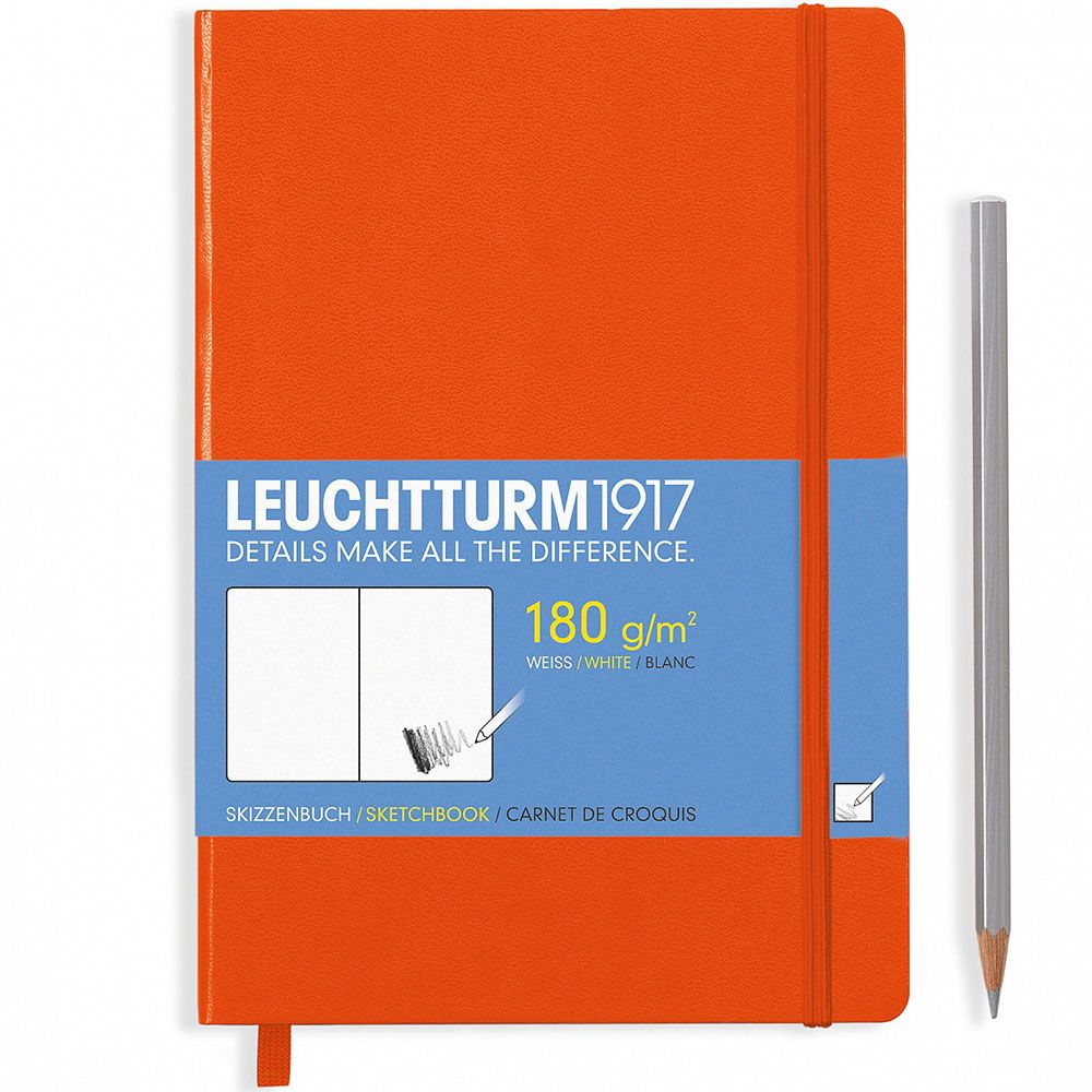 Оранжевый блокнот без разметки Leuchtturm1917 в твердой обложке