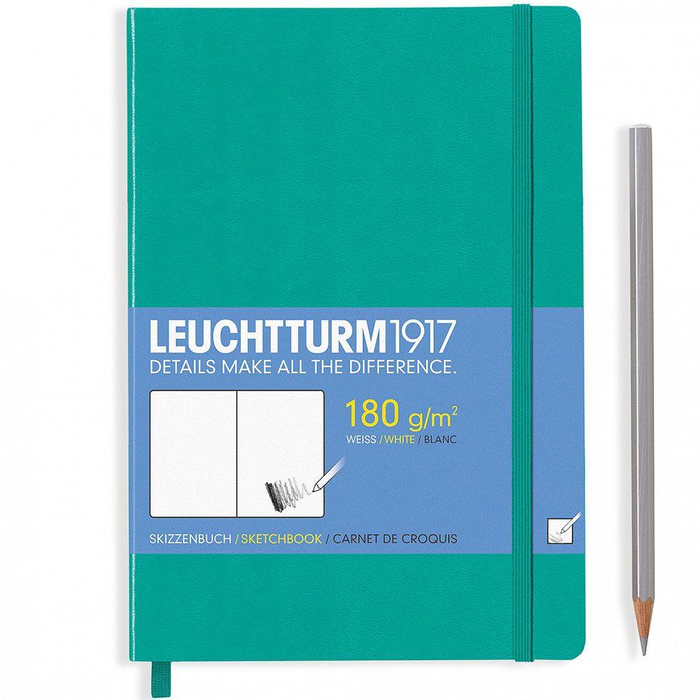 Скетч-бук формата А5 Leuchtturm1917 в зеленой обложке