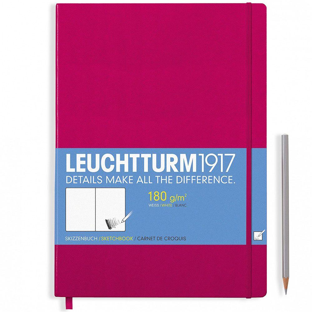 Большой скетч-бук Leuchtturm1917 в малиновой обложке