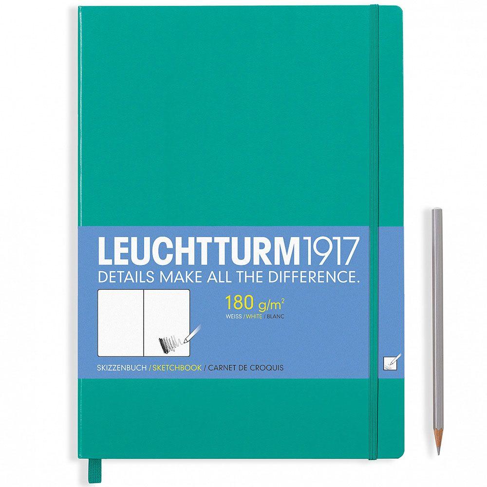 Зеленый блокнот без разметки Leuchtturm1917 формата А4