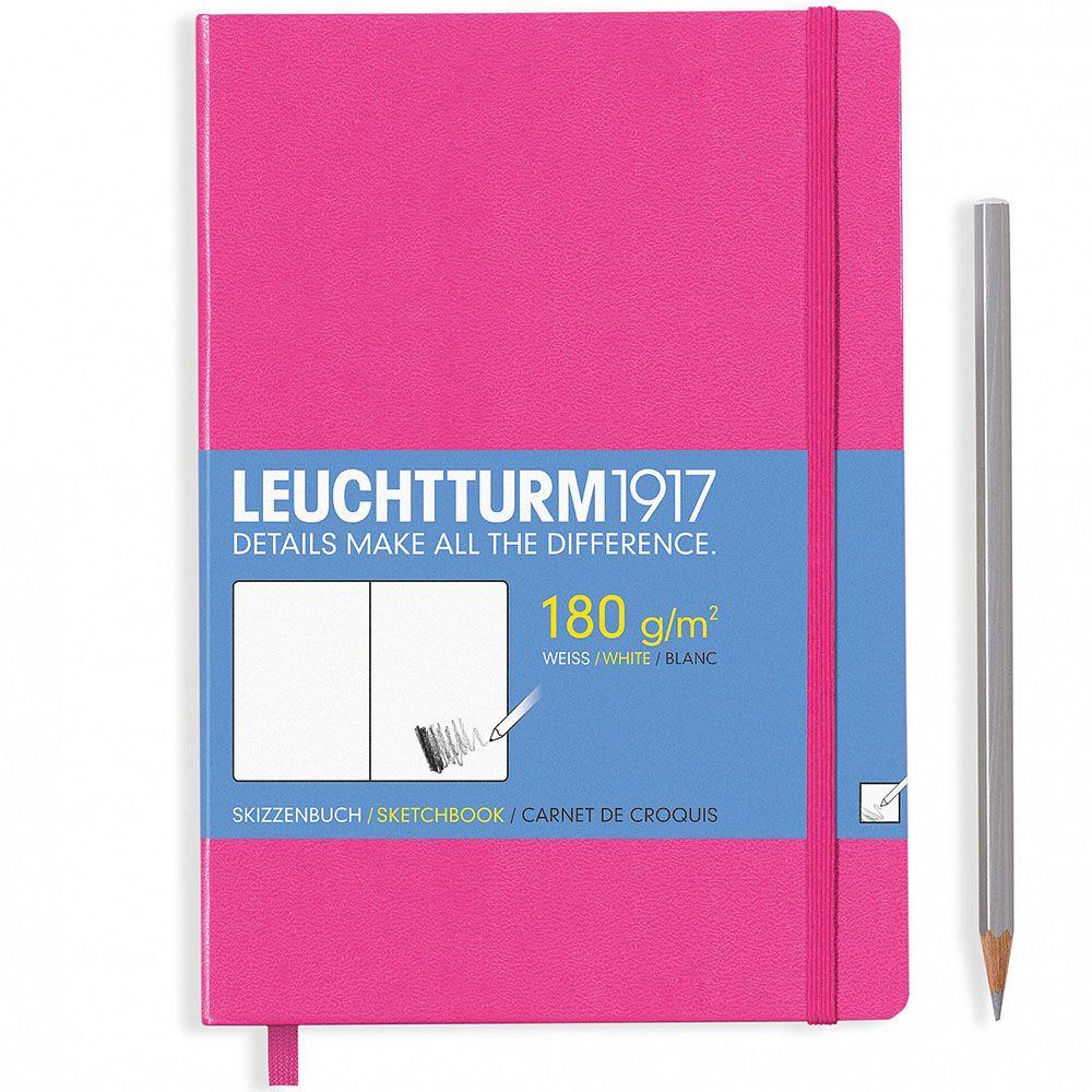 Скетч-бук розового цвета Leuchtturm1917 в твердой обложке