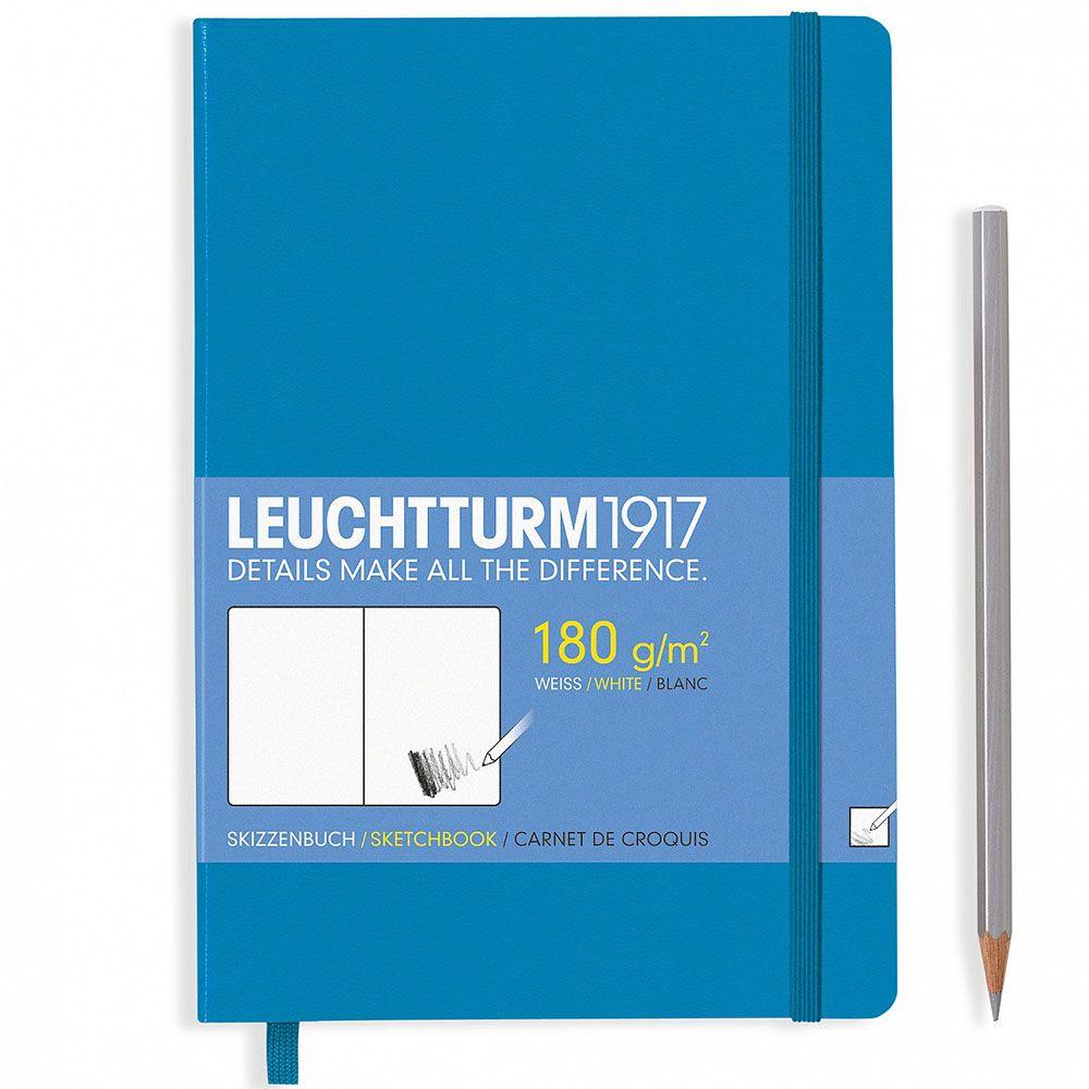 Голубой скетч-бук Leuchtturm1917 среднего размера