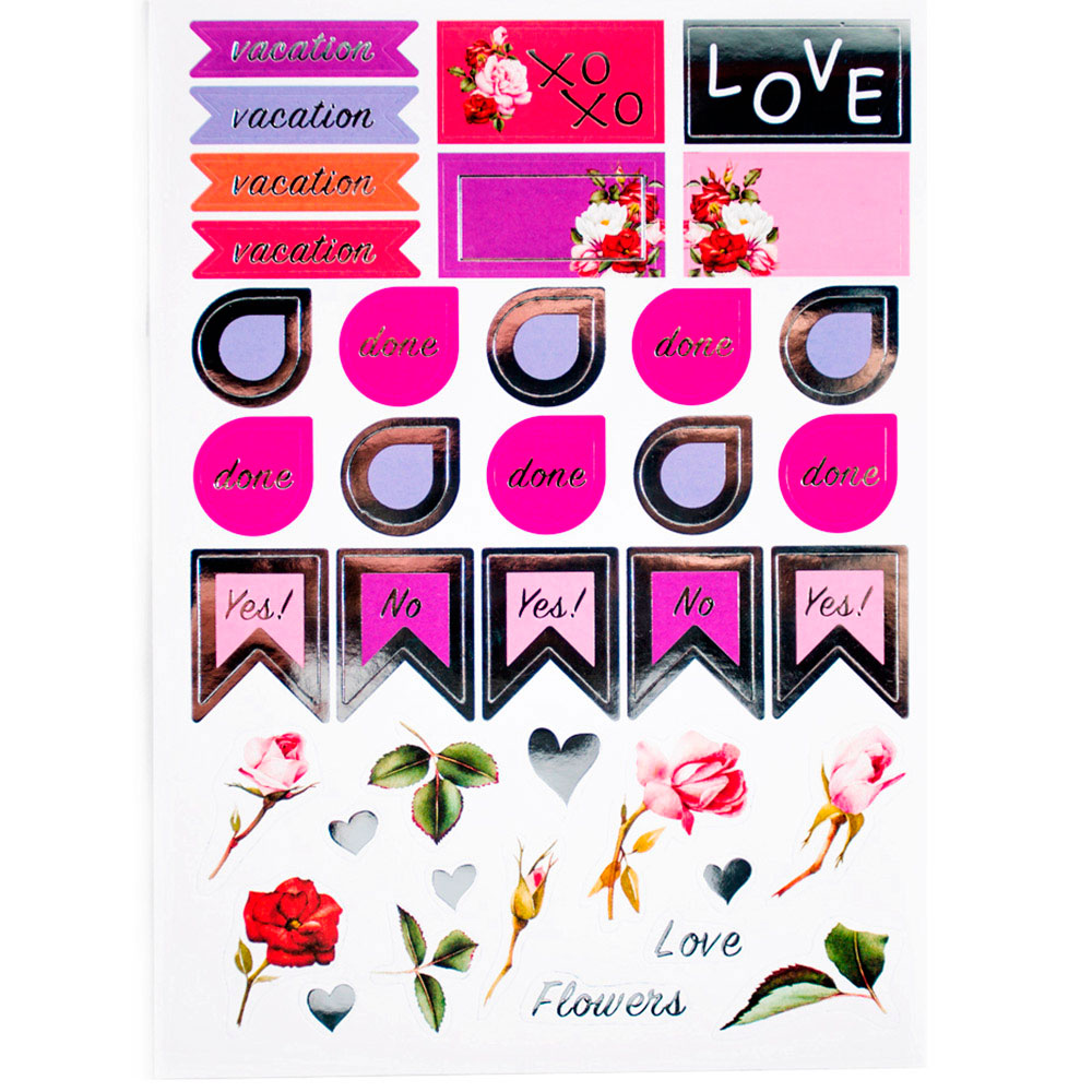 Набор наклеек Chicardi Chic sticker pack Floral
