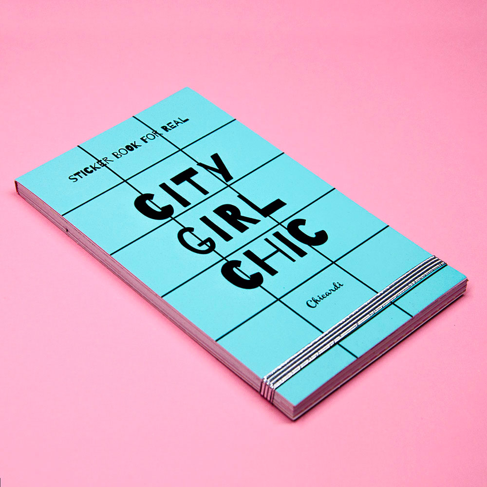 Книга с наклейками Chicardi Sticker book for real City Girl Chic