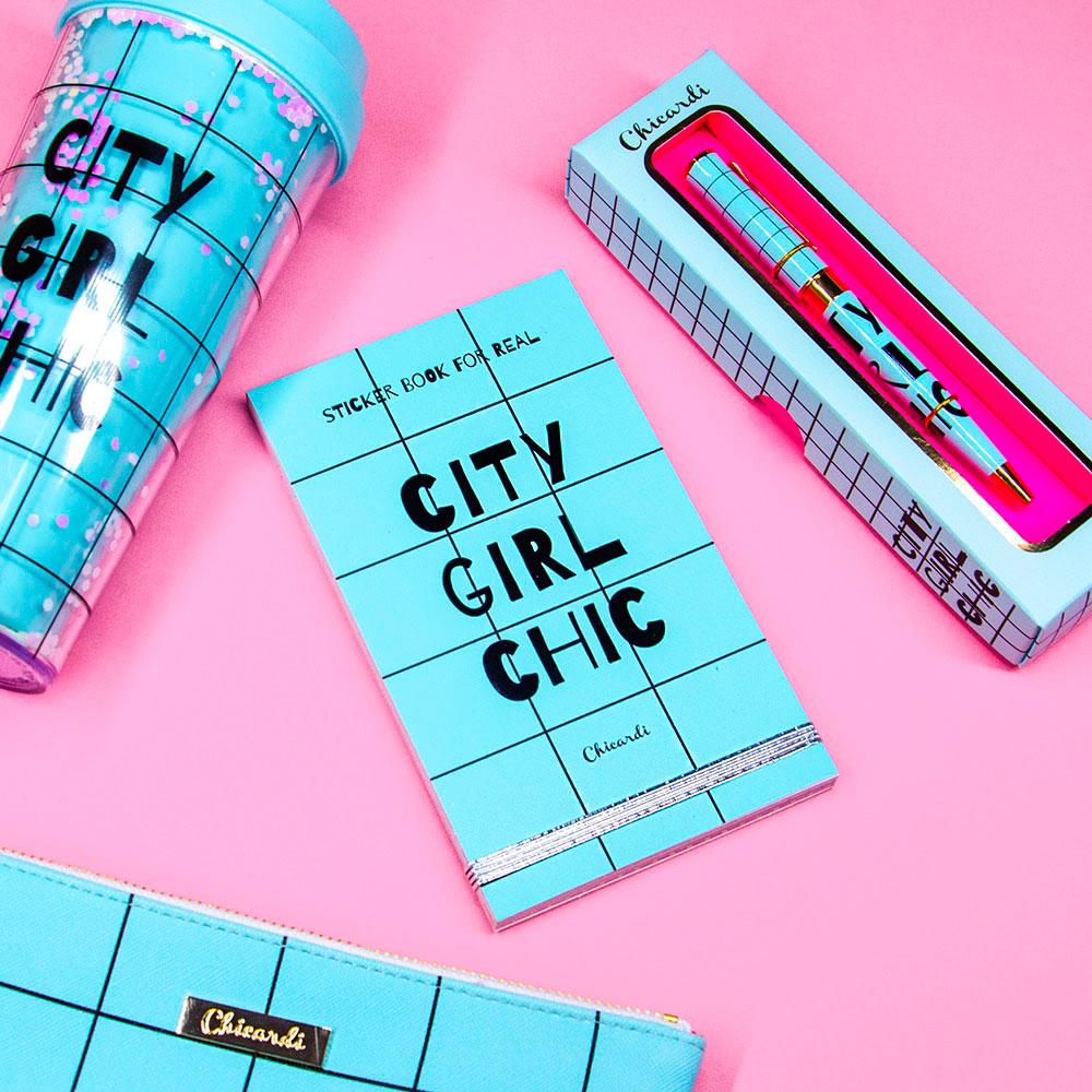 Книга с наклейками Chicardi Sticker book for real City Girl Chic