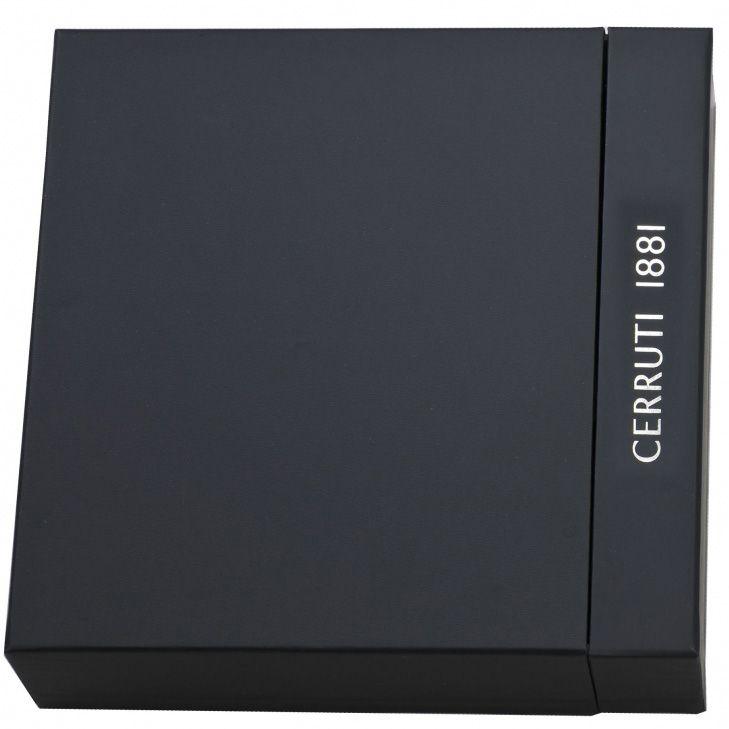 Блокнот Cerruti 1881 в черной дизайнерской обложке с флеш-картой USB2 на 4 Гб