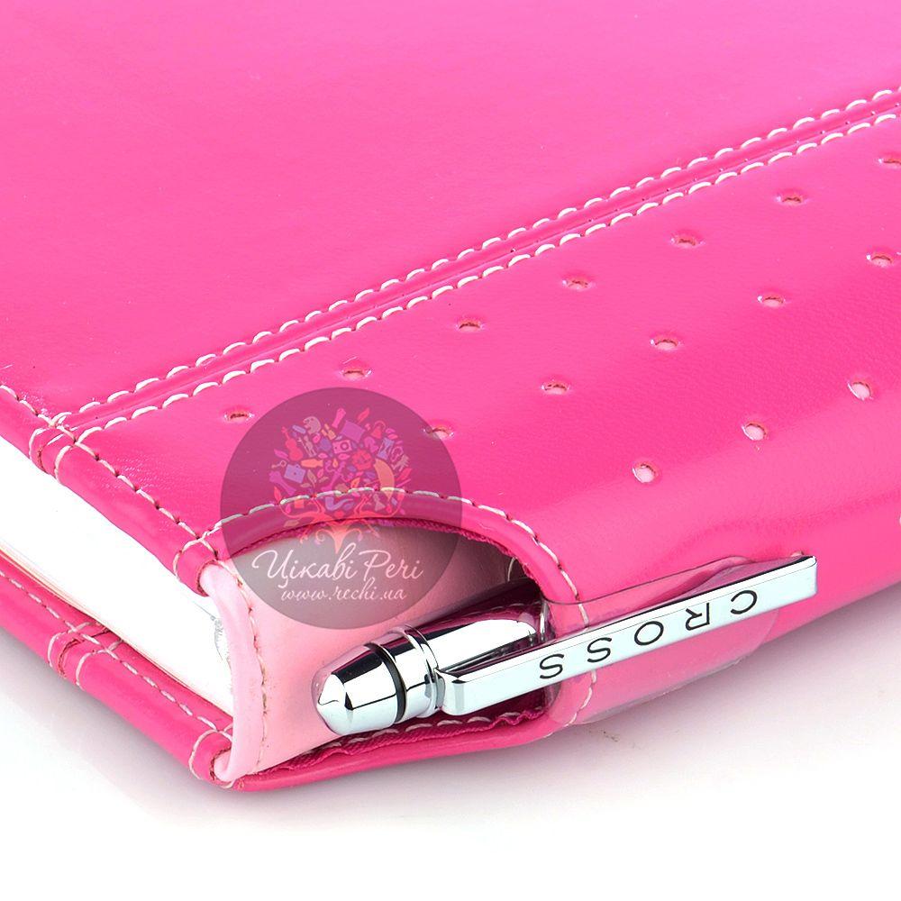 Блокнот малый Cross Signature розового цвета в комплекте с ручкой Cross