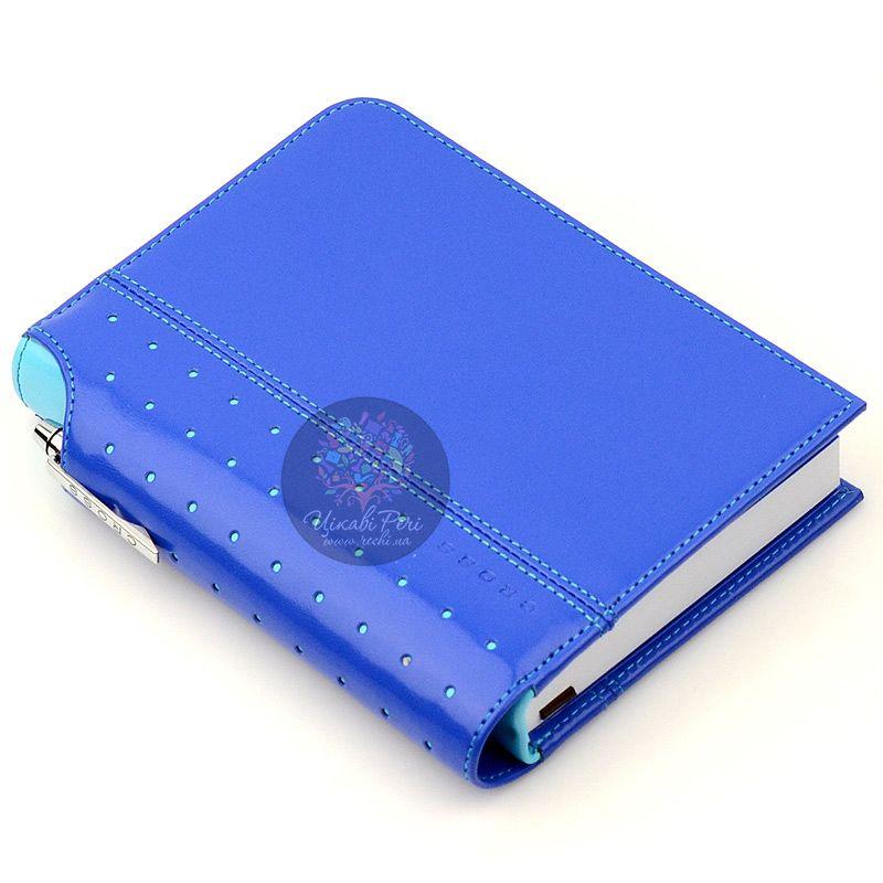 Блокнот Signature малый синий с ручкой
