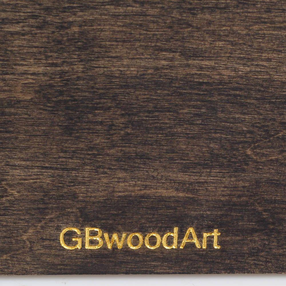 Блокнот из натурального дерева GBwoodArt с рисунком