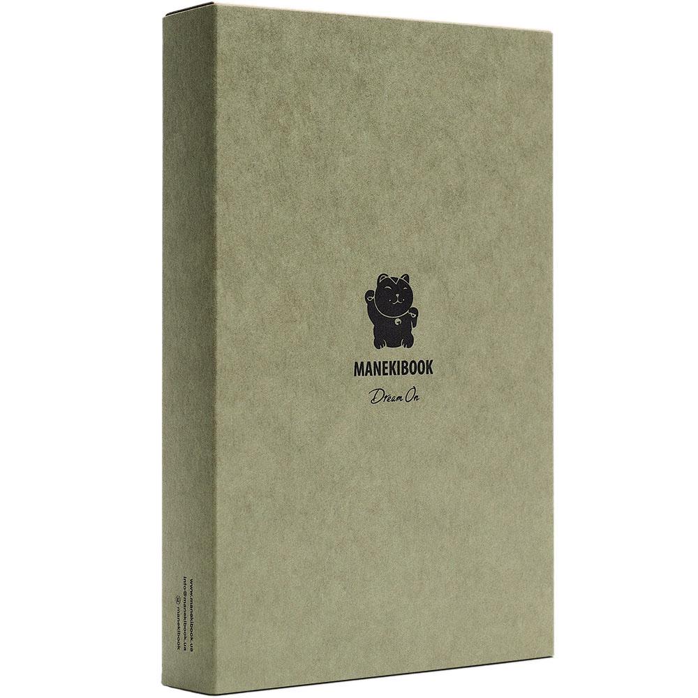 Записная книжка Manekibook из кожи коричневого цвета