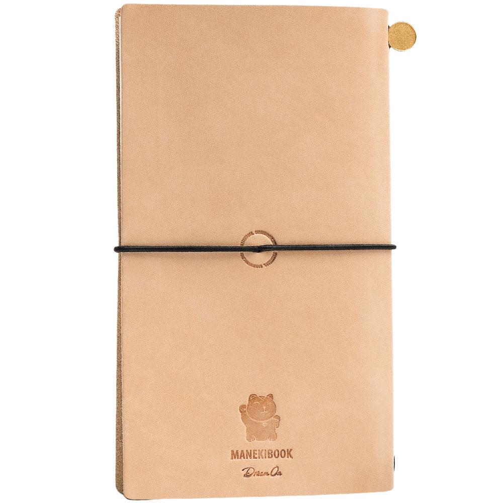 Записная книжка Manekibook из кожи бежевого цвета