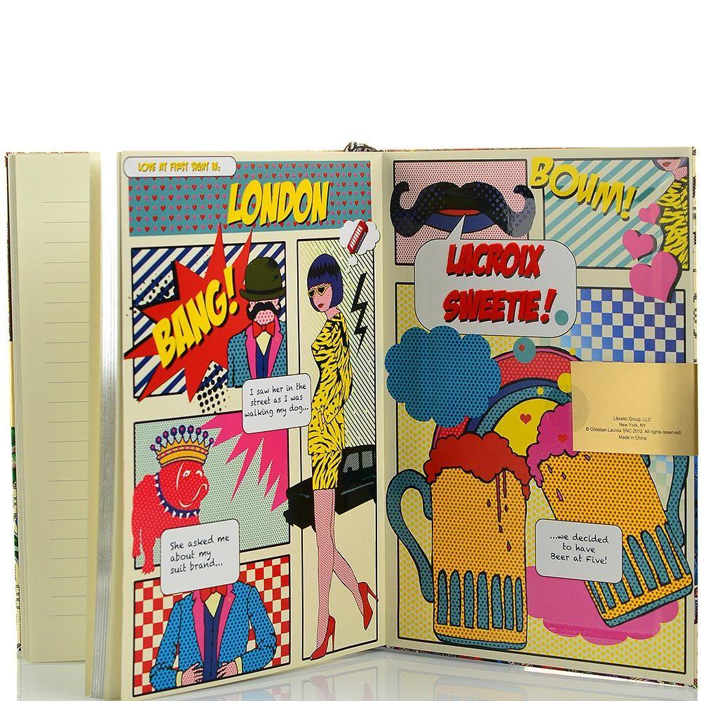 Блокнот Christian Lacroix Papier London формата А5 в полужестком переплете с лентой-закладкой