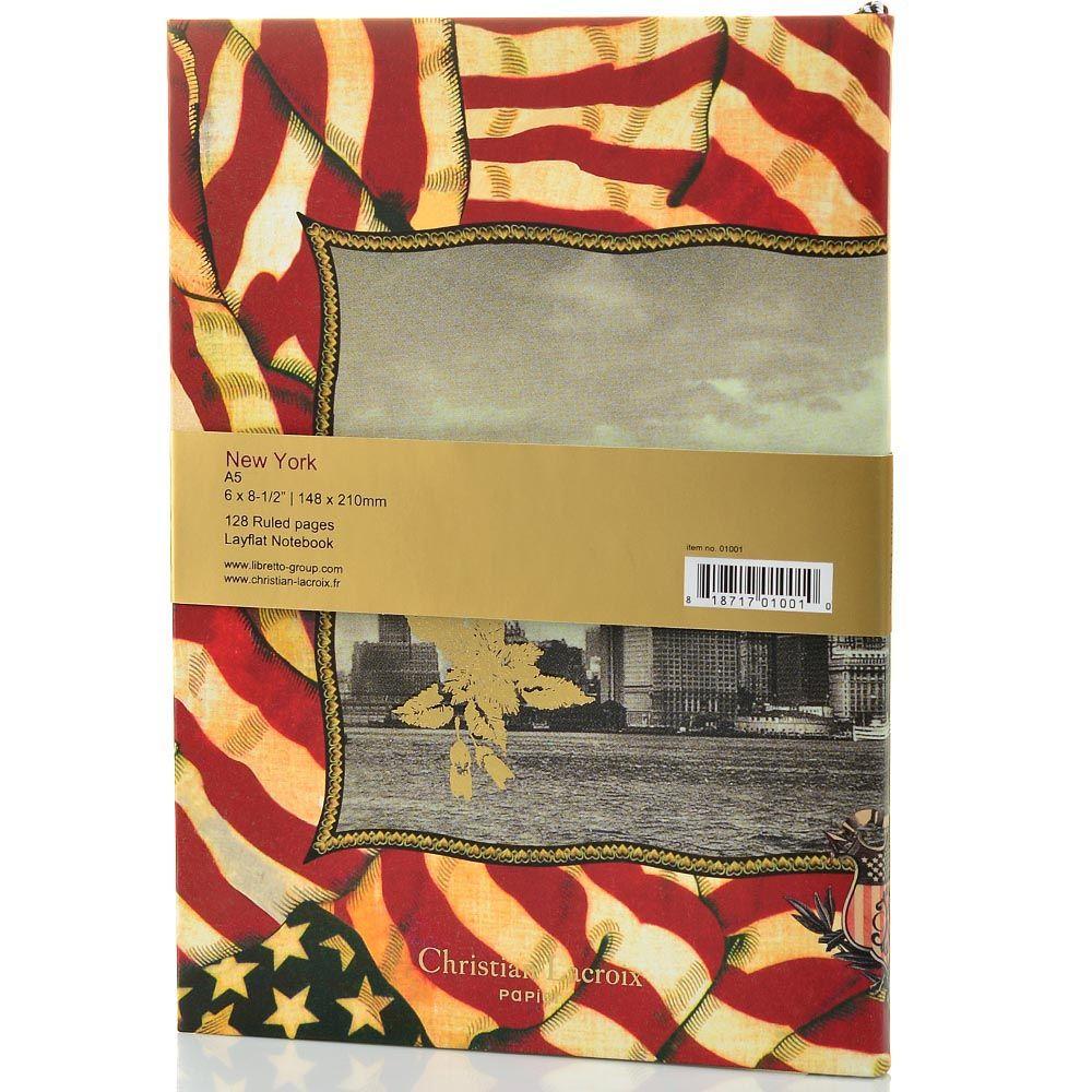 Блокнот Christian Lacroix Papier New York формата А5 в полужестком переплете с лентой-закладкой