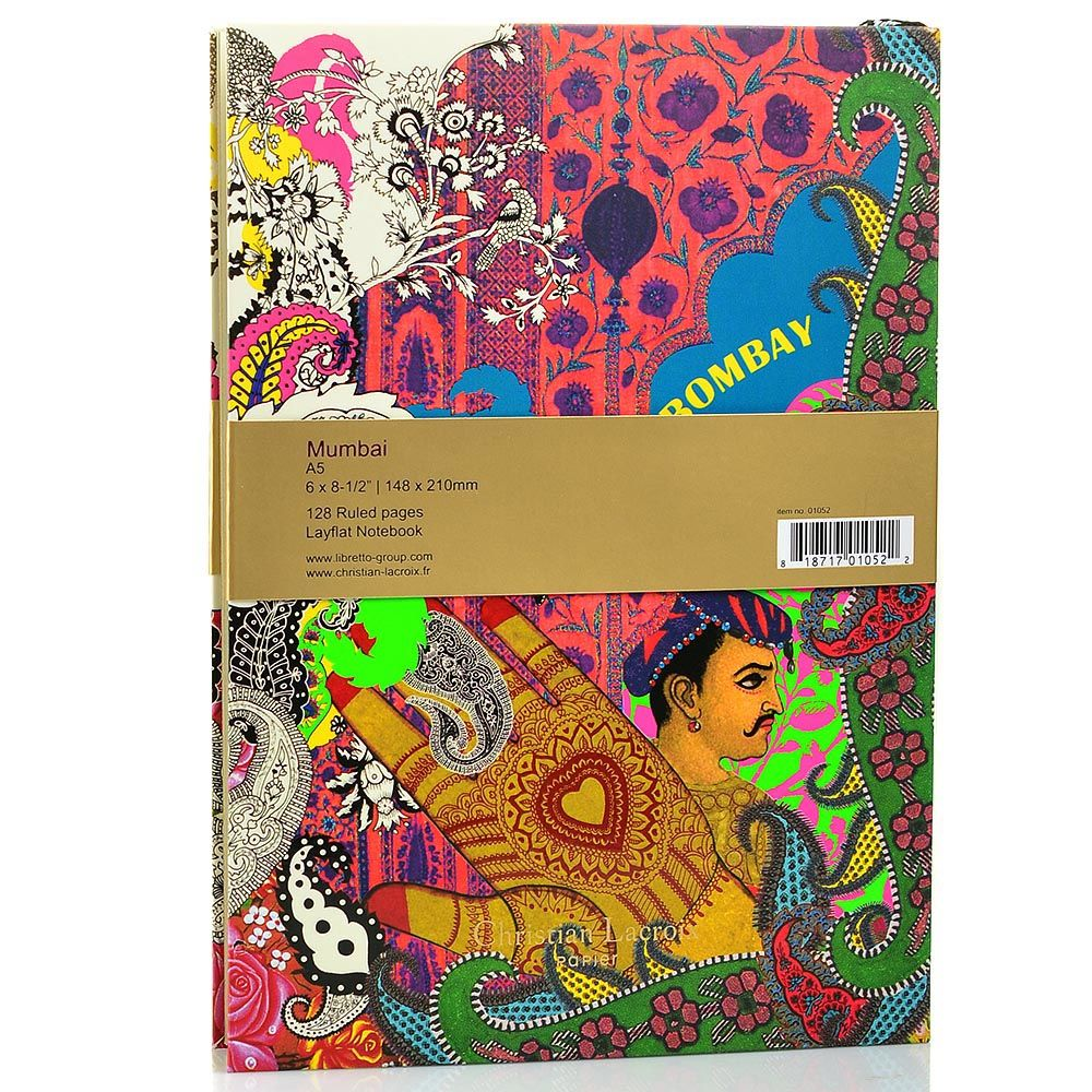Блокнот Christian Lacroix Papier City Journal Bombay А5 с лентой-закладкой