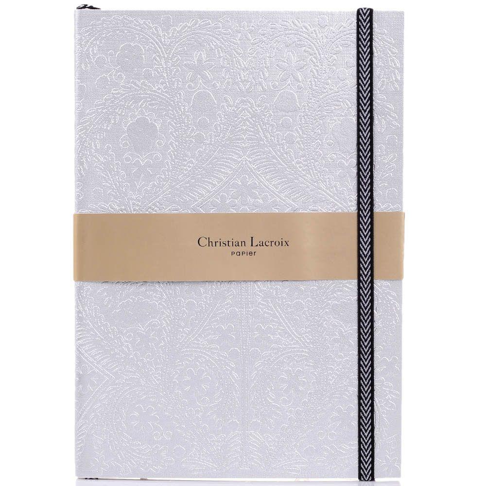 Блокнот Christian Lacroix Papier Paseo B5 серебристого цвета