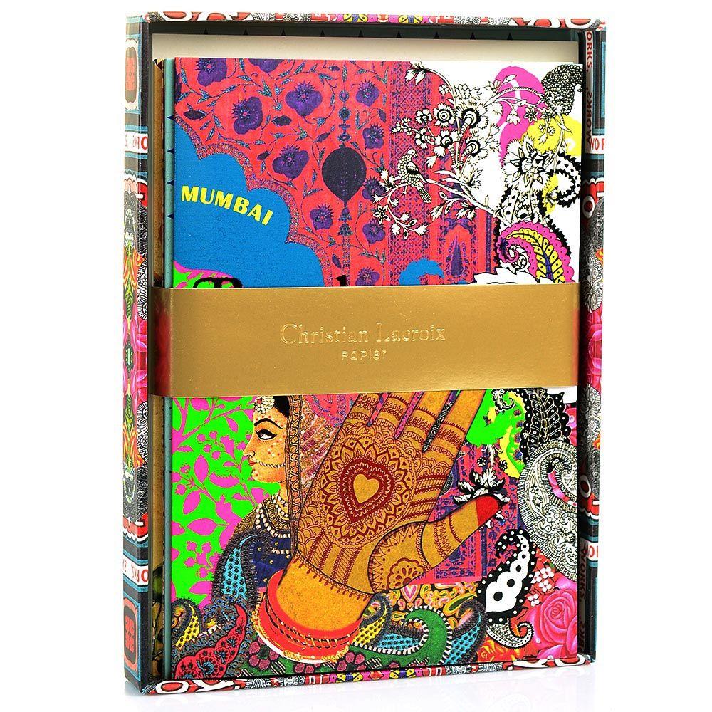 Набор открыток Christian Lacroix Papier Voyage II с золотыми наклейками с логотипом