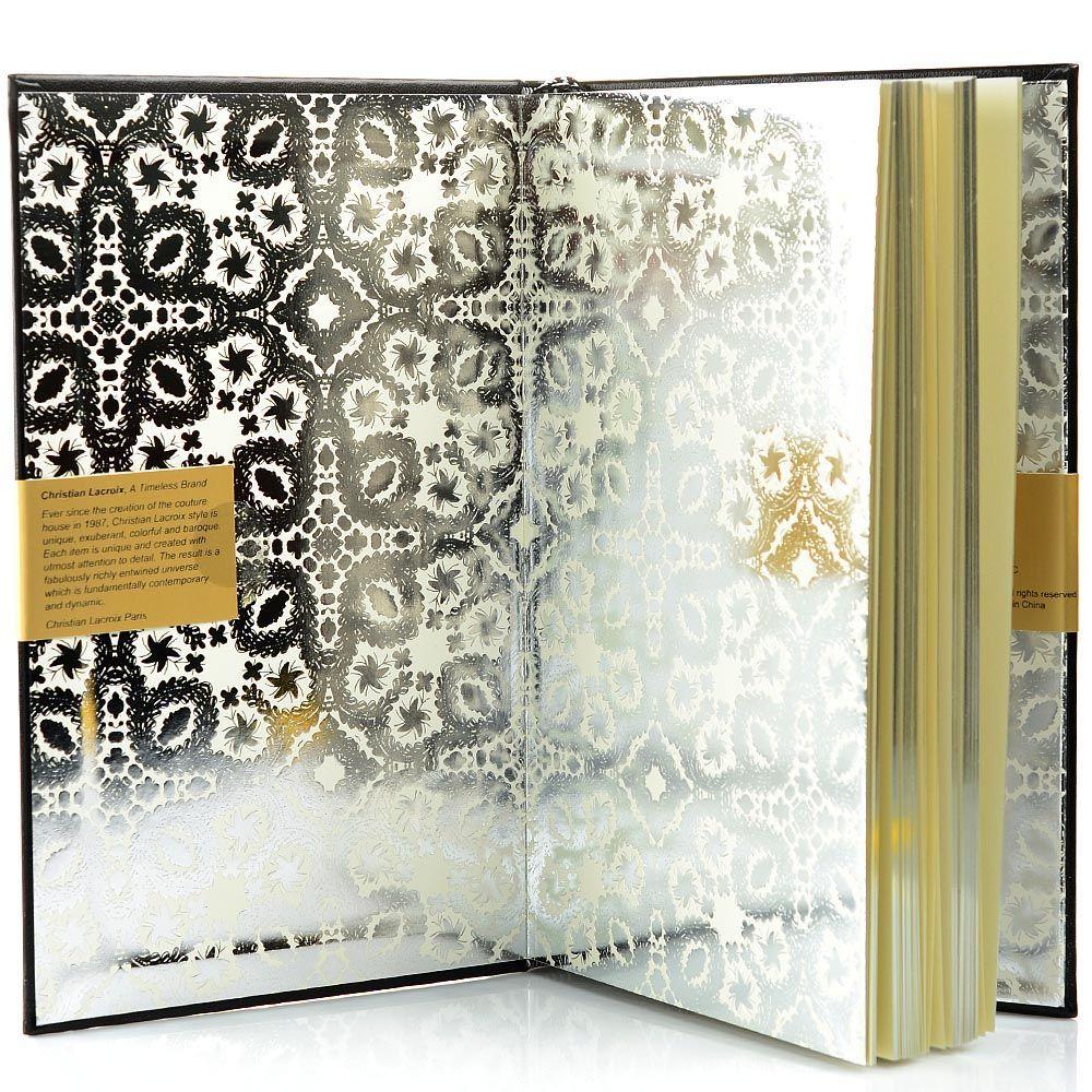 Блокнот Christian Lacroix Papier Paseo черный рельефный А5 в твердом переплете