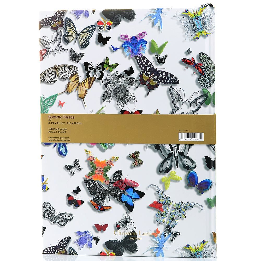 Блокнот-альбом Christian Lacroix Papier Butterfly Parade формата A4 с лентой-закладкой