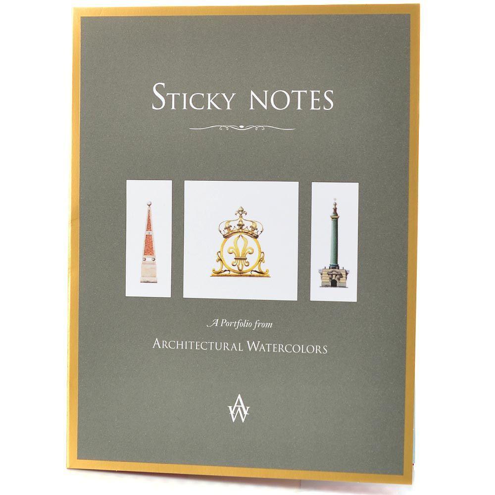 Набор дизайнерких стикеров Architectural Watercolors с обелисками и фонтанами Версаля