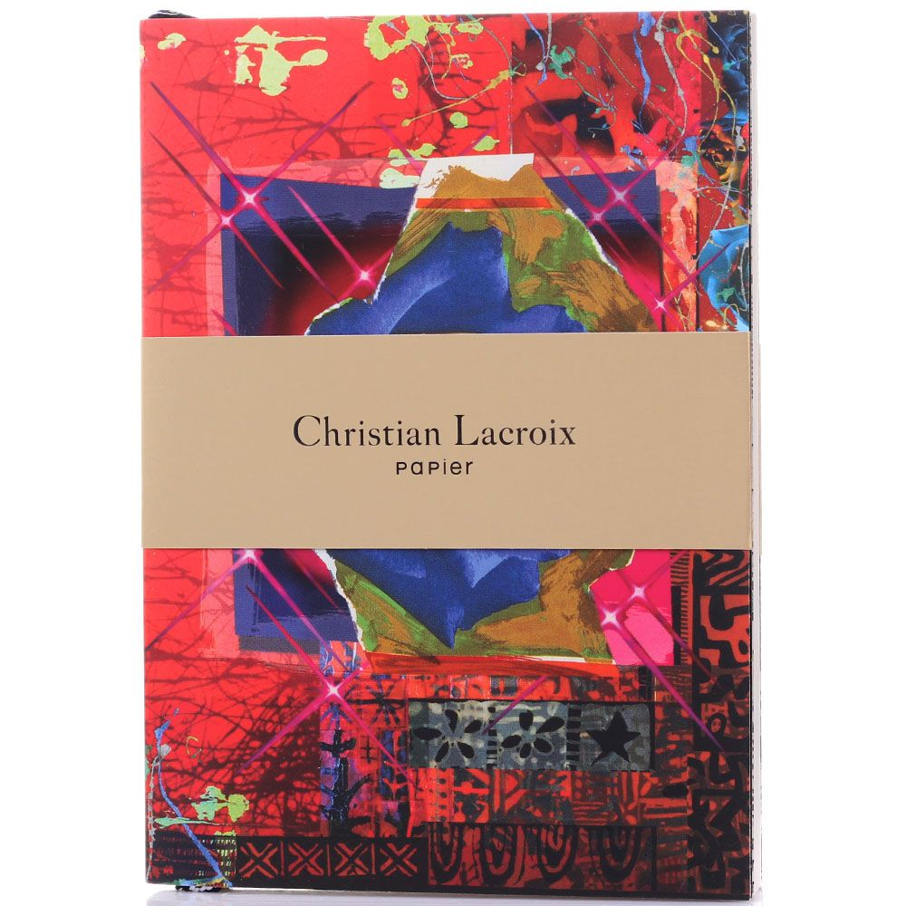 Блокнот Christian Lacroix Rose Garden с абстрактным принтом и крупными орхидеями