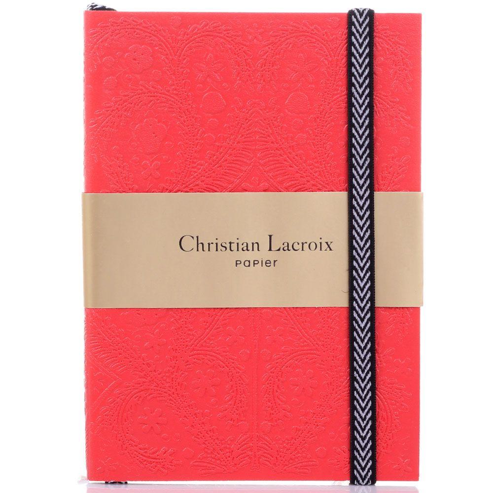 Блокнот Christian Lacroix Papier Paseo Scarlet A6 красный