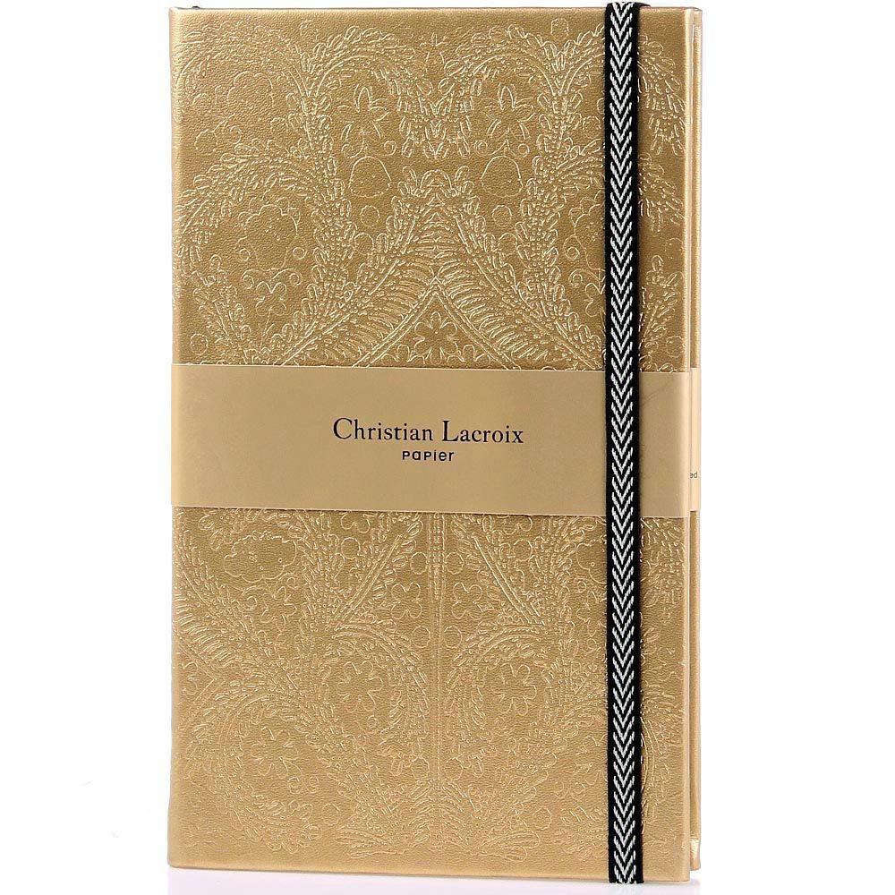 Блокнот Christian Lacroix Papier Paseo золотой А5 в твердом переплете