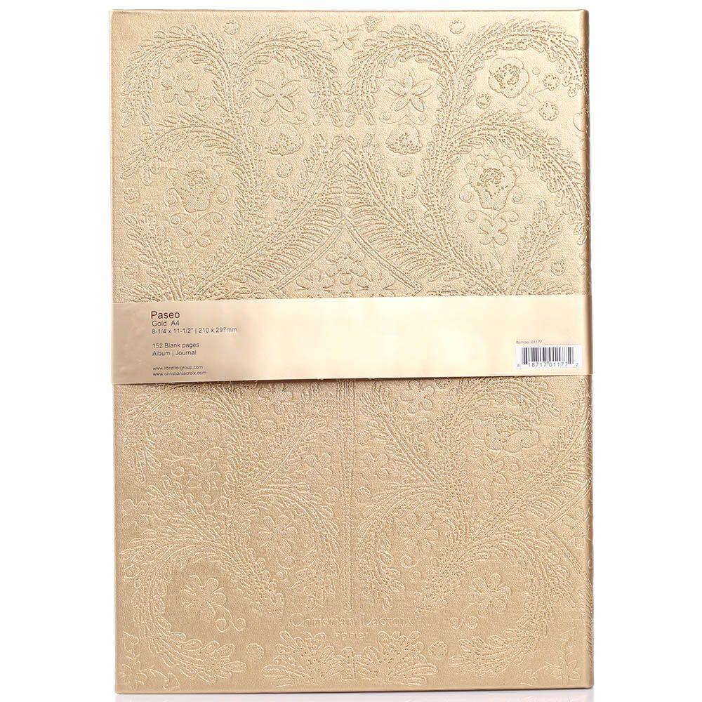 Блокнот Christian Lacroix Papier Paseo Emboss Gold A4