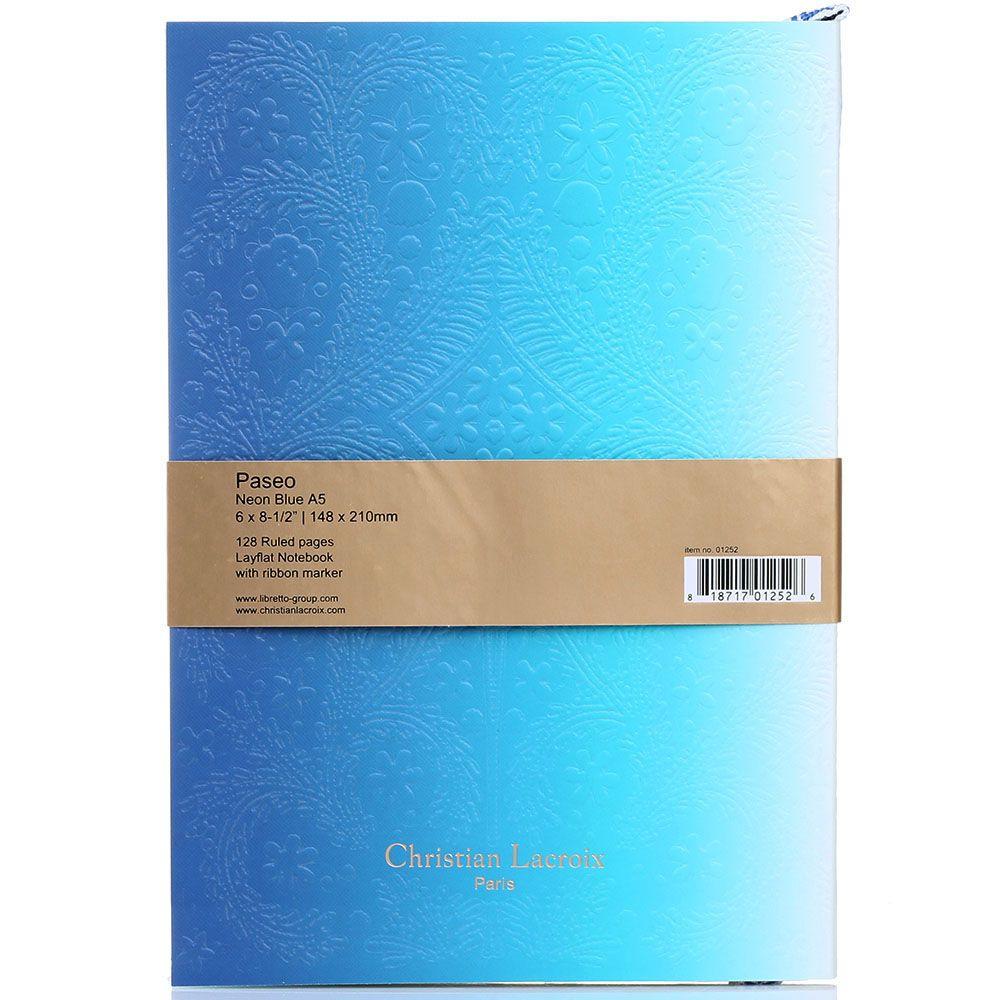 Блокнот Christian Lacroix Ombre Paseo Neon A5 голубой