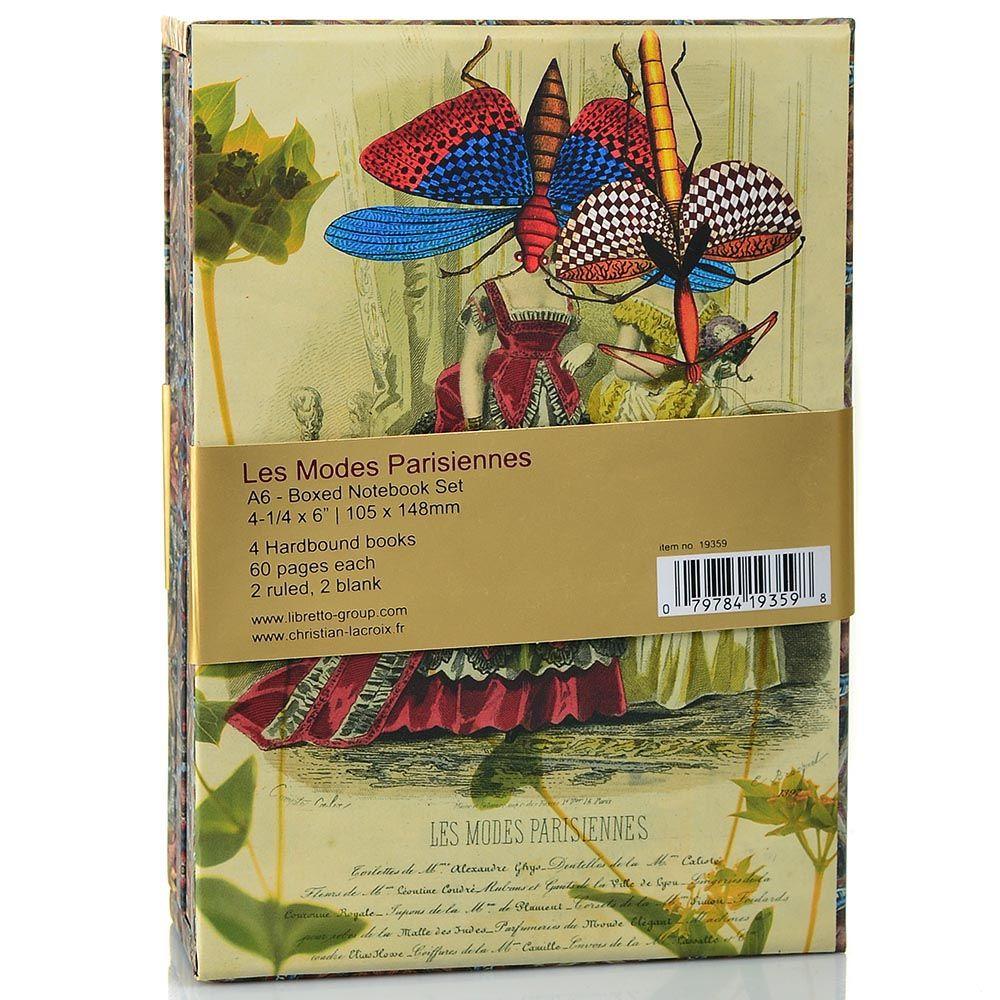 Набор Christian Lacroix Papier Les Modes Parisien из 4 блокнотов А6 в твердом футляре