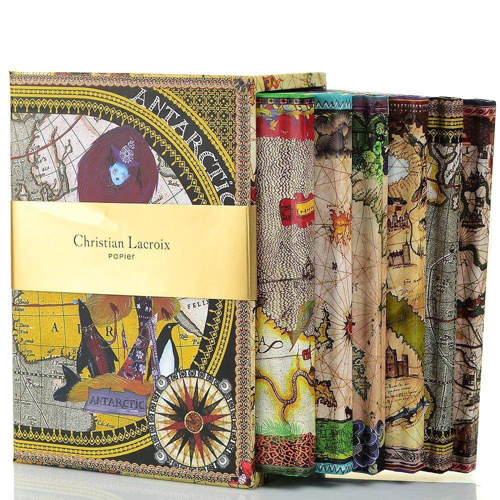 Набор Christian Lacroix Papier Continents из 6 маленьких блокнотов А6 в твердом футляре