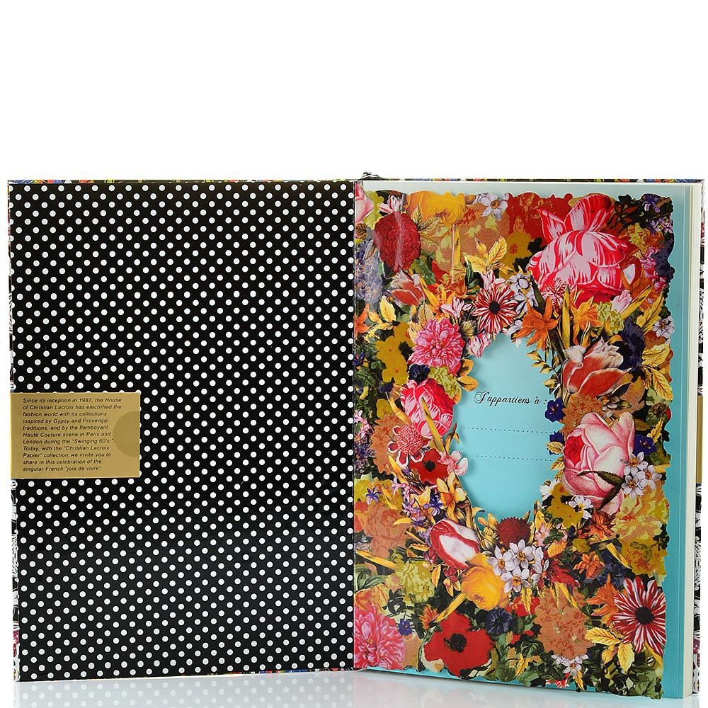 Блокнот Christian Lacroix Papier Arty формата А5 с лентой-закладкой
